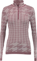 adidas by Stella McCartney Houndstooth knitted top