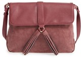 Sole Society Faux Leather Crossbody Bag - Purple