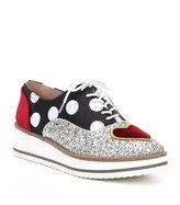 Betsey Johnson Walker Glitter Heart Patch Sneakers