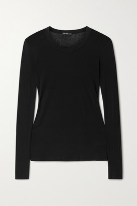 James Perse Ribbed Cotton Top - Black