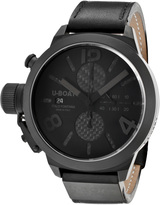 U-Boat 2278 Men's Classico Automatic Chronograph Black Leather Carbon Fiber
