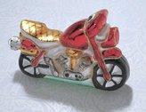 GKI Bethlehem Lighting Bethlehem Glass Motorcycle Christmas Ornament