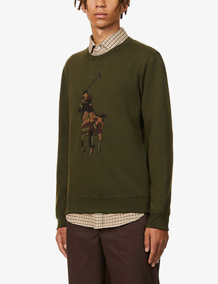 Polo Ralph Lauren Logo-embroidered cotton-blend sweatshirt