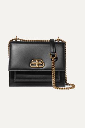 Balenciaga Sharp S Leather Shoulder Bag - Black