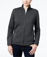 Karen Scott Petite Quilted Zip-Front Jacket, Only at Macy's