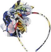 Moschino Flowers Printed Satin Headband