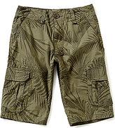 First Wave Big Boys 8-20 Tropical-Print Twill Cargo Shorts