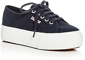 Superga Linea Lace Up Platform Sneakers