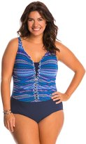 Profile by Gottex Plus Size Blue Lagoon One Piece Swimsuit 8140272