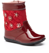 Laura Ashley Wine Patent Floral Boot