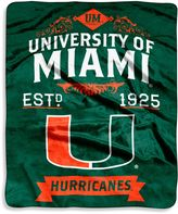 Bed Bath & Beyond University of Miami Raschel Throw Blanket