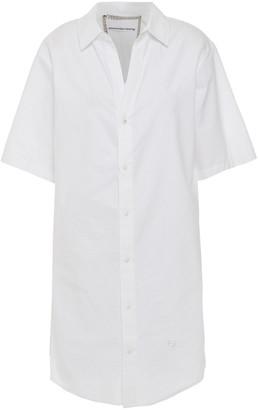 Alexander Wang Chain-trimmed Cotton Mini Shirt Dress