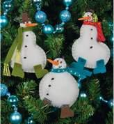 Dimensions Simple Snowmen Ornaments Felt Appliqués - Set of 3
