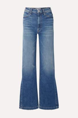 Mother The Hustler Sidewinder High-rise Wide-leg Jeans - Mid denim