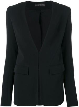 David Koma sequin panel blazer