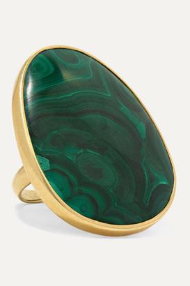 Pippa Small 18-karat Gold Malachite Ring - 6
