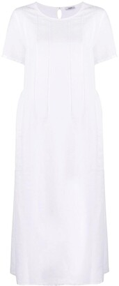 Peserico Half-Pleated Midi Dress