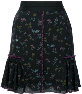 Coach Floral Bow Print Skirt