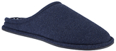Kin By John Lewis Stripe Lined Mule Slippers, Denim