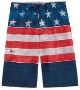 Burnside Americana Stripe Swim Trunks- Boys 8-20