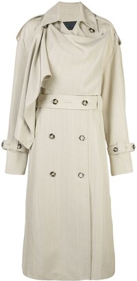 Proenza Schouler Draped Oversized Trench Coat