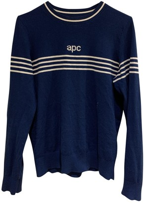 A.P.C. Blue Cotton Knitwear for Women
