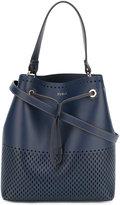 Furla laser-cut bucket tote - women - Leather - One Size