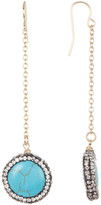 Natasha Accessories Stone & Halo Set Crystal Chain Drop Earrings