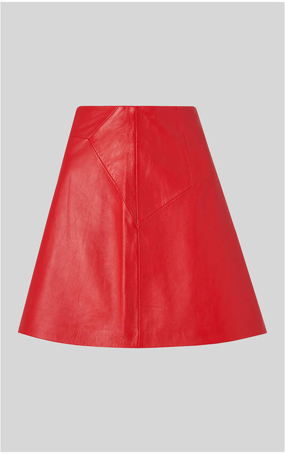44b65b7bfcac95 Whistles Leather Skirt - ShopStyle UK