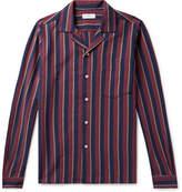 President's - Camp-Collar Striped Cotton Oxford Shirt