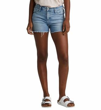 Silver Jeans Co. Women's Elyse Curvy Fit Mid Rise Short
