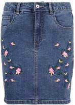 Only ONLEXK Denim skirt medium blue denim