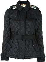 Burberry quilted jacket - women - Nylon/Polyester - S