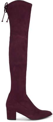 Stuart Weitzman Thighland Suede Over-the-knee Boots - Burgundy