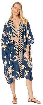 O'Neill Kimberly Kimono Cover-Up (Dark Indigo) Women's Swimwear