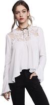 For Love & Lemons Ellery Blouse in White