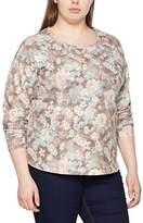 Ulla Popken Women's Mit Blumendruck Sweatshirt,UK 20