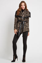 BCBGeneration Printed Shawl-Collar Coat - Leopard