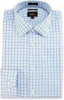 Neiman Marcus CoolMax® Square Trim-Fit Dress Shirt, Blue