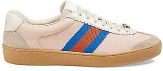 Gucci Women's Leather & Suede Sneakers - Pink