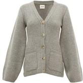 KHAITE Lucy Flared-sleeve Cashmere-blend Cardigan - Womens - Grey