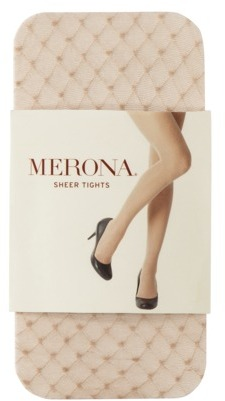 Merona Women's Sheer Diamond With Dot Tights - Beige
