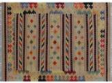Bungalow Rose One-of-a-Kind Rucker Kilim Hand-Woven Beige Area Rug