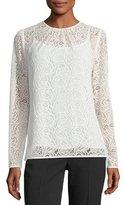 MICHAEL Michael Kors Long-Sleeve Stretch-Lace T-Shirt