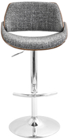 Lumisource Fabrizzi Height Adjustable Barstool with Swivel