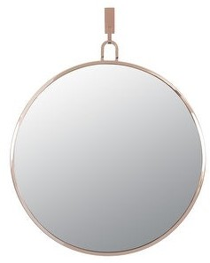 Varaluz Stopwatch 30-inch Brushed Nickel Round Accent Mirror