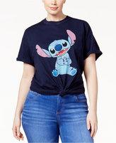 Hybrid Trendy Plus Size Cotton Stitch Graphic T-Shirt