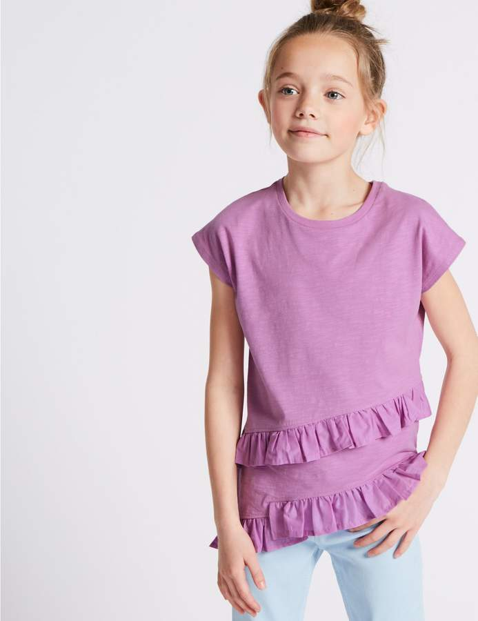 Marks and Spencer Pure Cotton Asymmetric Top (3-16 Years)