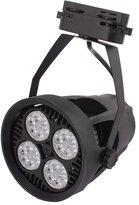 uxcell® E27 Bulb AC85-265V 35W Energy Saving PAR30-OSSCK LED Light 3000K Spotlight Black