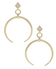 Ettika Gold Crescent Drop Earrings